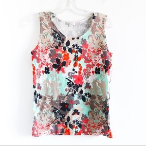 NWOT Puli knit floral abstract print sleeveless